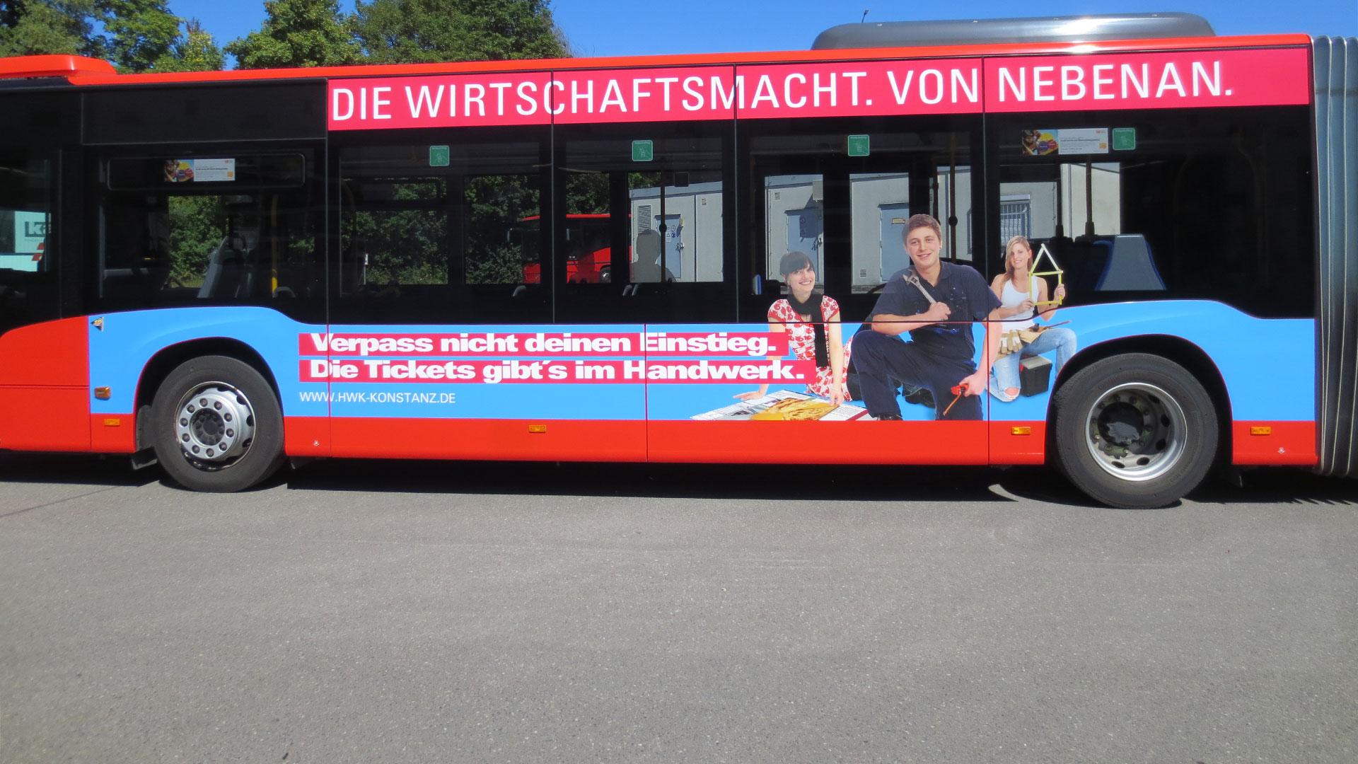 Buswerbung Konstanz