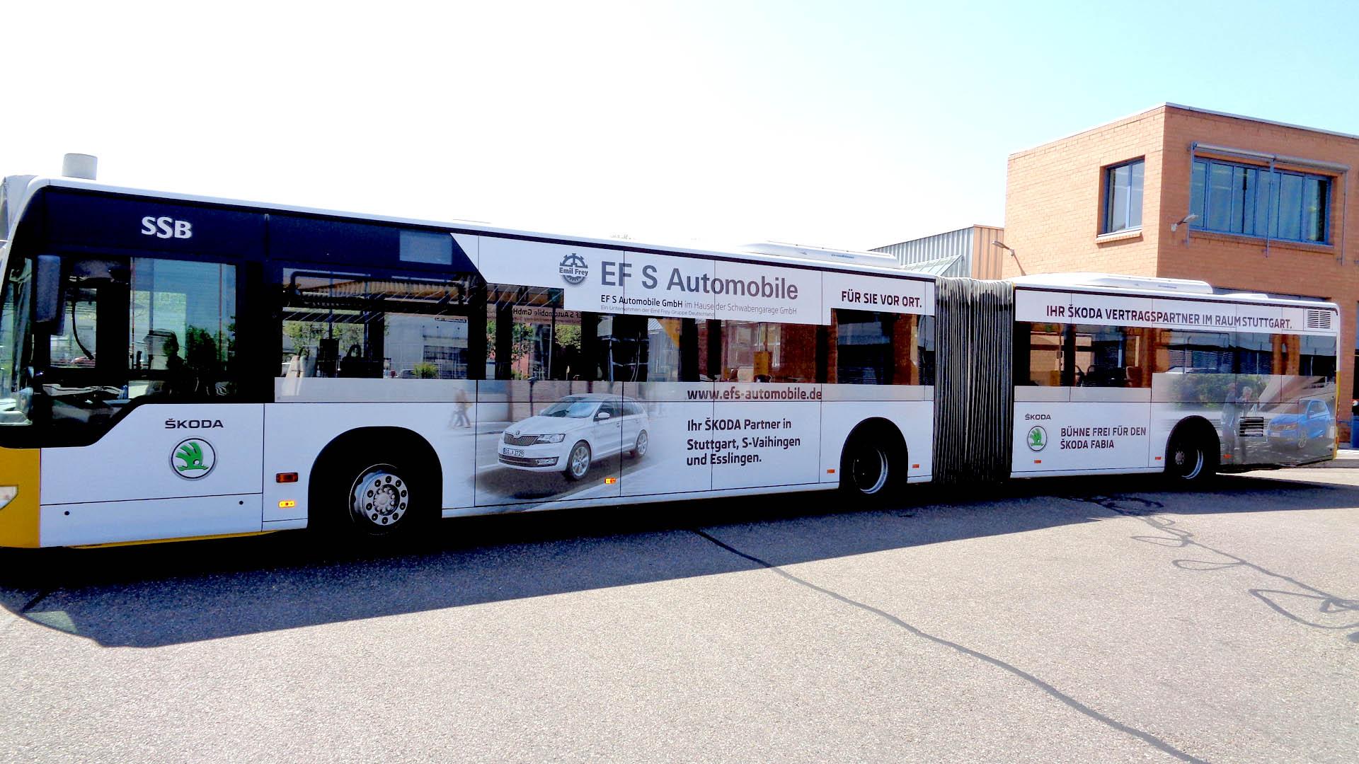 Buswerbung Stuttgart