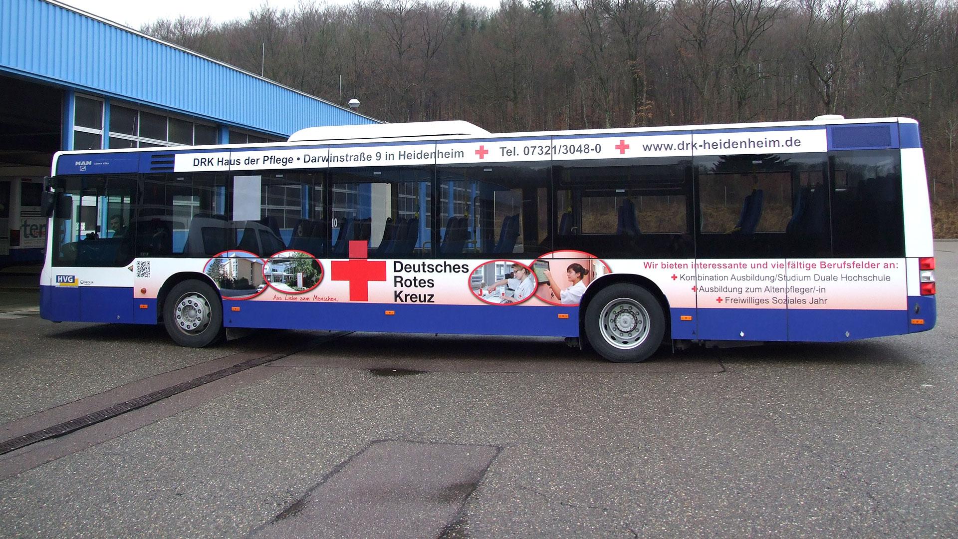 Buswerbung Heidenheim