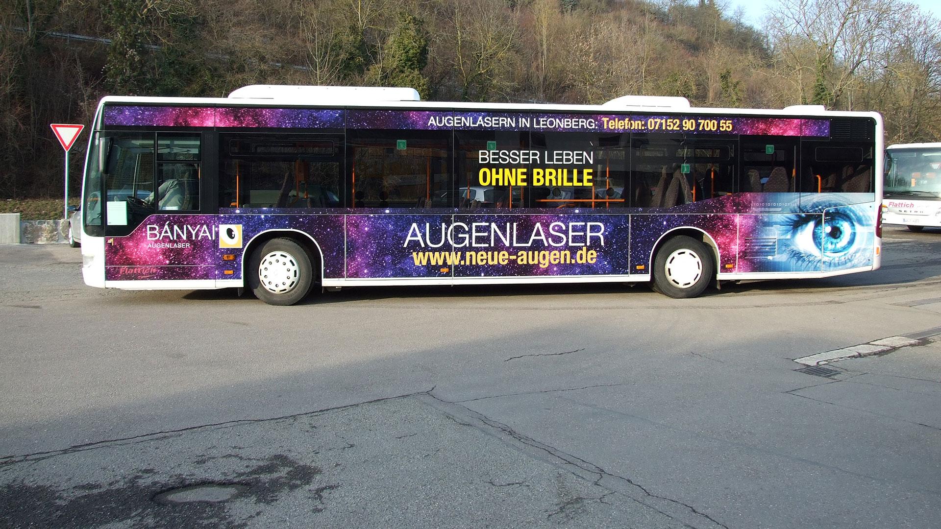 Buswerbung Ludwigsburg