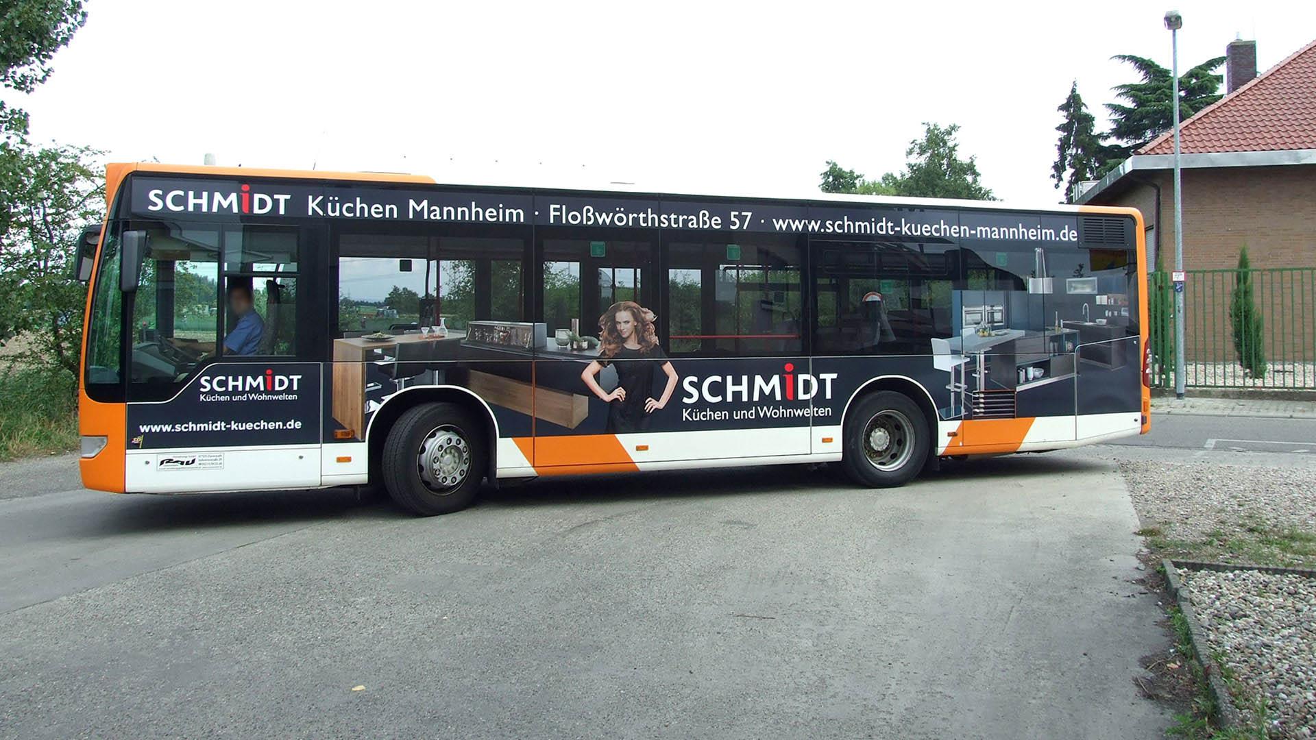 Buswerbung Mannheim