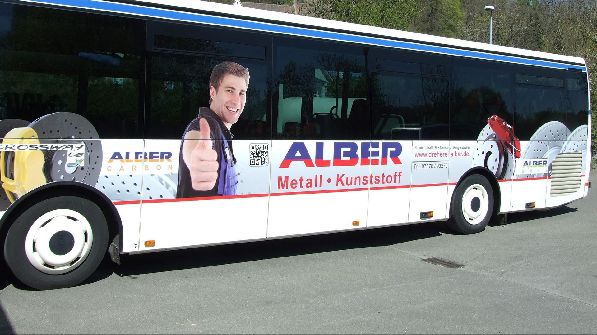 Buswerbung Sigmaringen